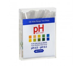 PH Test strips - Alkaline Diet - for Urine & Saliva Testing (100 Strips) - 4.5-9